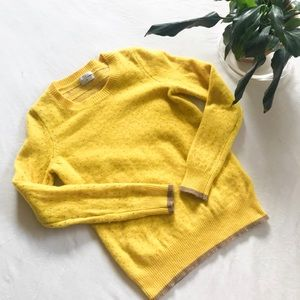 Madewell Wallace Colorstitch Yellow Sweater